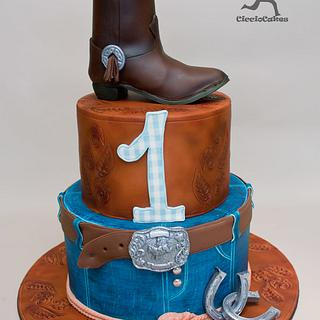 Western Cowboy Cake with Edible Cowboy Boot & 2 Tutorials