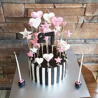 Heart Star Cake
