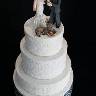 'Cheers' Wedding cake - Cake by Julie Anne White