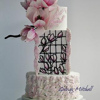 Magnolia cake, Cake craft guides Wedding Cakes and Sugar flowers, issue 26