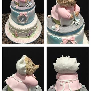 Mrs Tiggywinkle 80th birthday cake