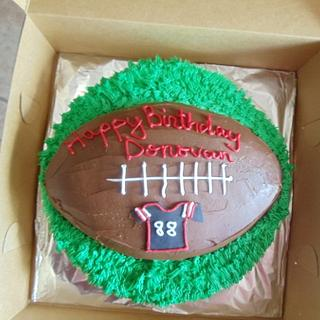 Football Birthday Cake - Cake by Tamara Bemiss