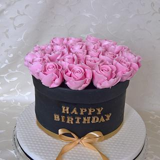 Birthday cake with roses