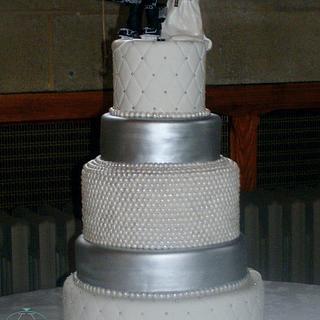 wedding cake - Cake by ann
