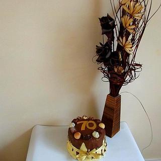 Belgium Chocolate Truffle Cake