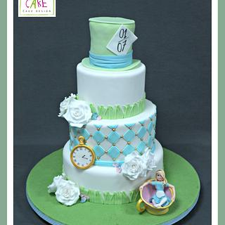 Alice in Wonderland pastel cake