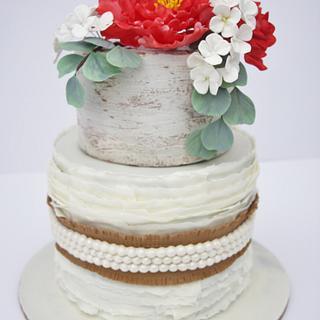 Rustic Wedding Cake - Cake by Pamela Jane