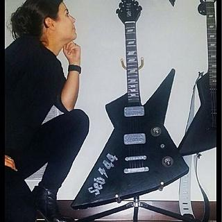 Electric guitar standing
