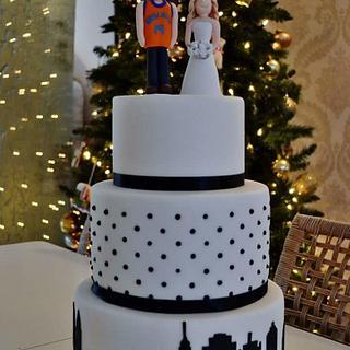 New York theme wedding cake  - Cake by Rachel Nickson
