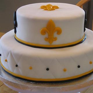 Pleasant New Orleans Saints Cake 4 Cakes Cakesdecor Personalised Birthday Cards Veneteletsinfo