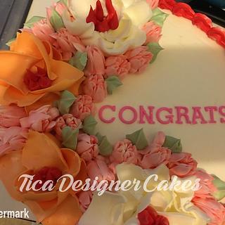 Simple graduation cake