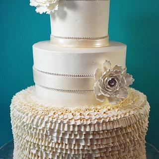 Buttercream Ruffle Wedding Cake - Cake by Jenniffer White