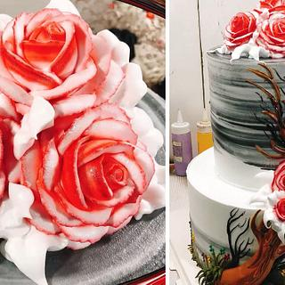 Roses Cake Decorating