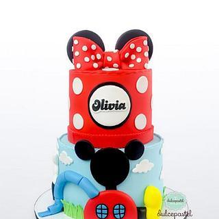 Torta Minnie Mouse en Medellín por Dulcepastel.com - Cake by Dulcepastel.com