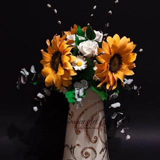 Summer bouquet 🌻 - Cake by Erika Amelia Ersek
