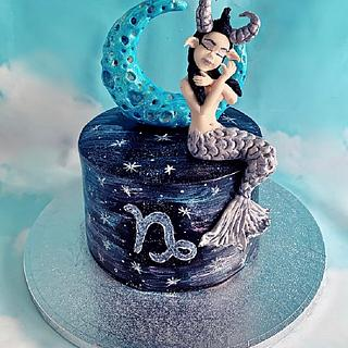 Capricorn Zodiac Cake ♑️