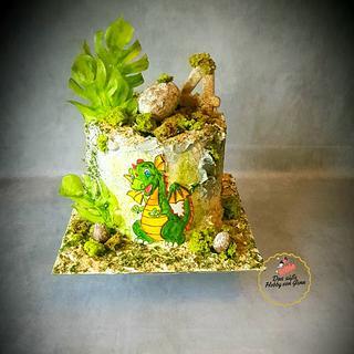 Dino Cake - Cake by Gena