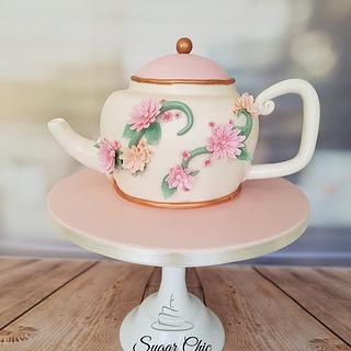 Floral Teapot Cake