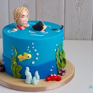 Swimming in the sea cake