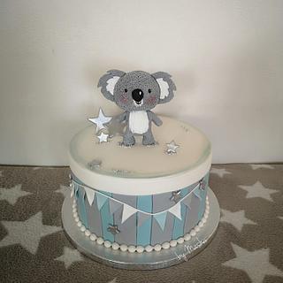 Cute koala babyshower cake
