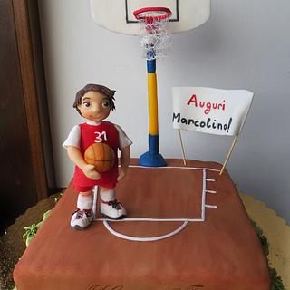 A young basketball player - Cake by Silvia Costanzo