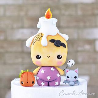 Cute Candle Cake Topper - Cake by Crumb Avenue