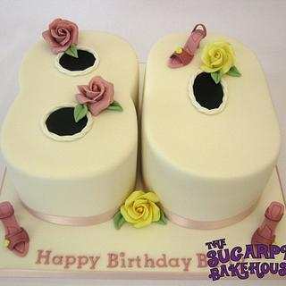 Carved 80th Birthday Cake