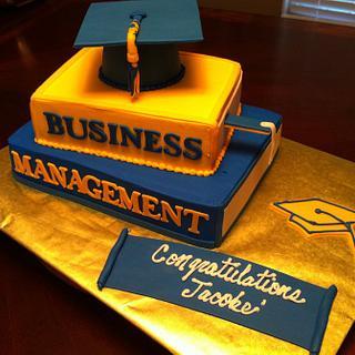 Stacked Books Graduation Cake