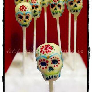 Dia de Los Muertos SUGAR SKULL CAKE POPS