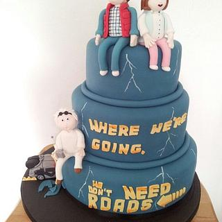 Grooms Back to the Future Cake - Cake by Ashling