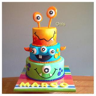 Monster Cake - Cake by ALotofSugar