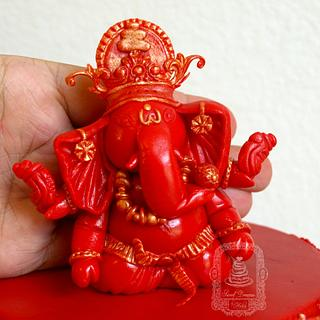 Lord Ganesh cake topper