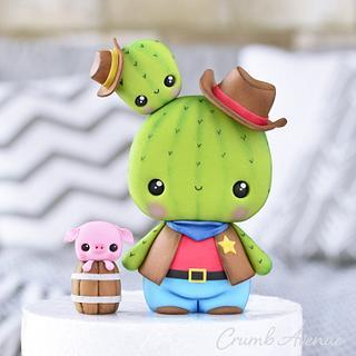 Cowboy Cactus Cake Topper
