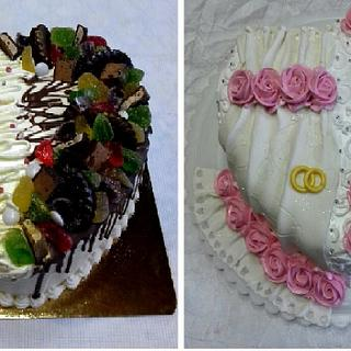 Heart Shaped Cake Decorating Ideas /Engagement Heart Shape Cake/Chocolate Heart Cake Design