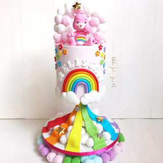 Care Bears and Rainbows - Cake by Lulu Goh