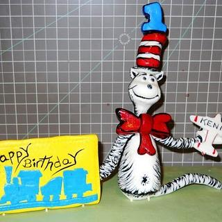 Cake topper for a Stacked Books Cake