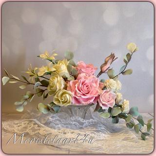 Romantic bridal bouquet of cold porselain...