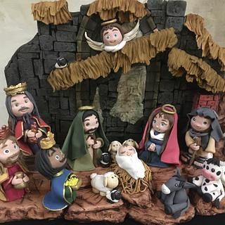 Sugar Nativity Scene