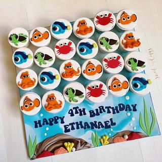 Baby Nemo and Dory's Adventure - Cake by Lulu Goh