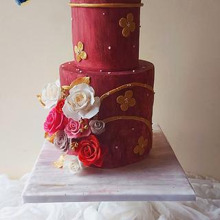 Anniversary cake - Cake by Tasnuta Cake Artistry ( TASNUTA ALAM)