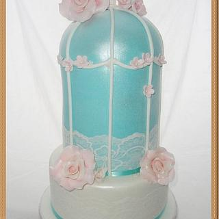 Birdcage wedding or special occasion cake