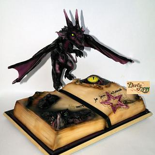 dragon cake with lights effects