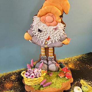 Gnomo de primavera  - Cake by Eva bella daucousse