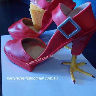 Chicken feet high heels
