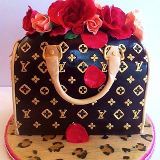 "Louis Vuitton ""Speedy"" - Cake by Kendra"
