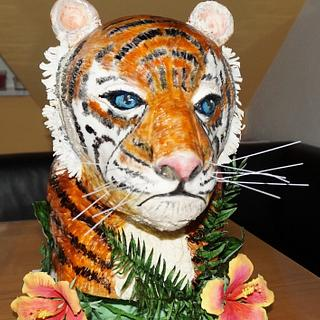 Tiger 3d cake