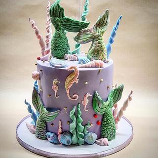 🧜♀️Under the sea cake 🧜♀️