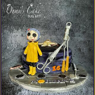 Coraline's Cake - Cake by Cécile Fahs