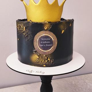 Black and gold - Cake by Emily's Bakery