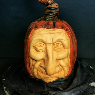 Sculpted pumpkin head